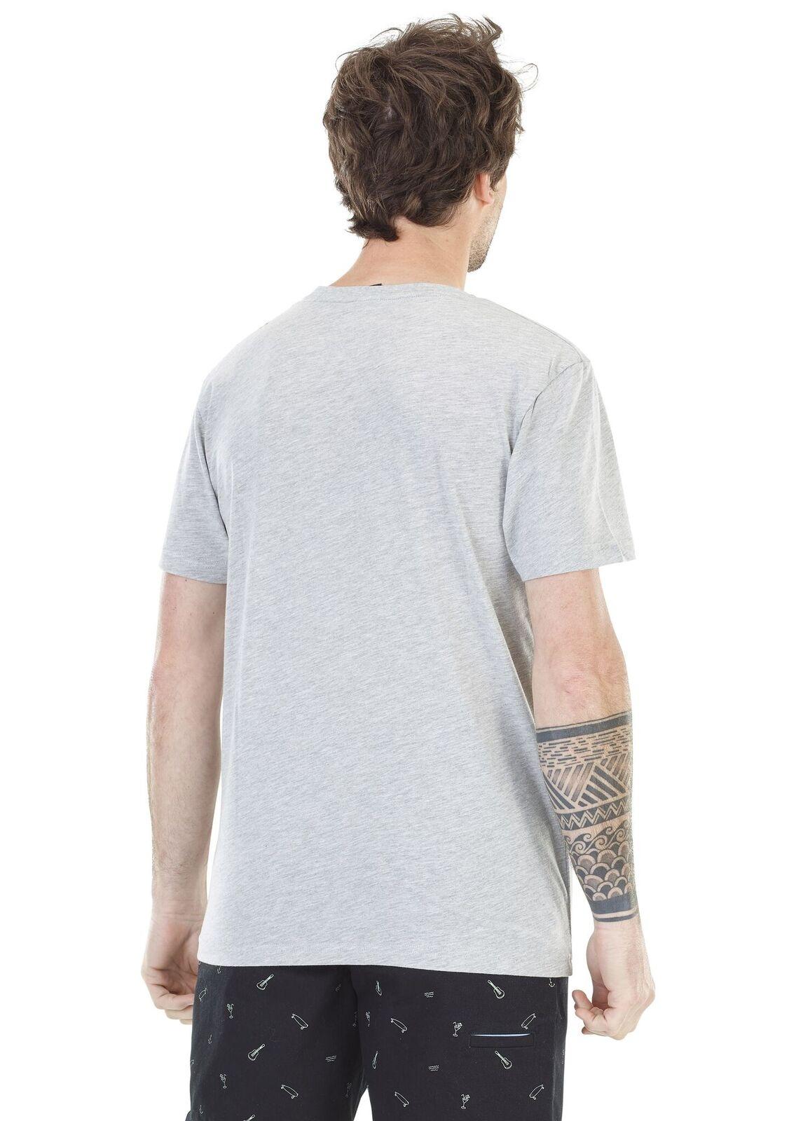 Palm Basement Melange Grey T Picture Shirt Organic 0OwNn8vPym