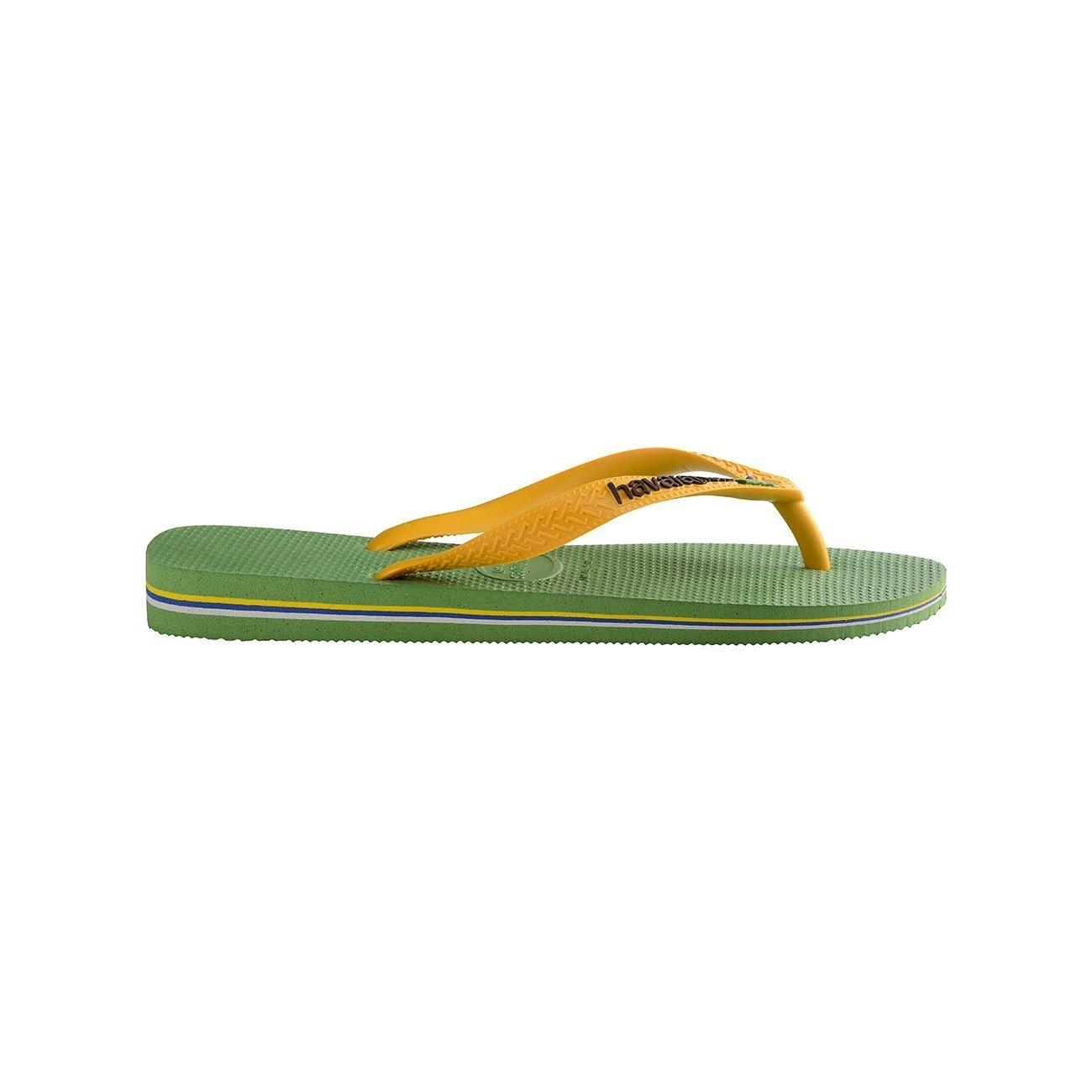 38c9a64575f Tong Havaianas Brasil Logo Green Bamboo - PRECISION SKI