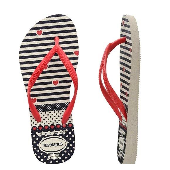 b68c590f54d052 Tong Havaianas Hav Kids Slim Fashion White red - PRECISION SKI