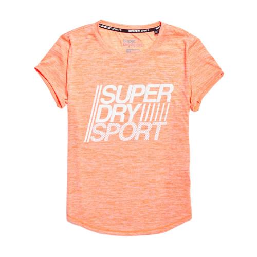 d0bb147cf6fa Pop Fitspiration Shirt Sport Precision Superdry Orange T Ski xzSTgS