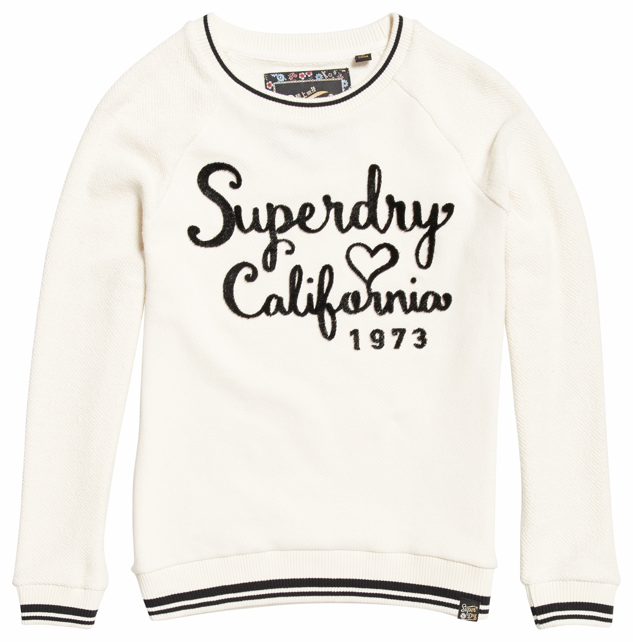 Sweat Ivory Crew Dust Superdry Reversed Aria 3TJcF1lK