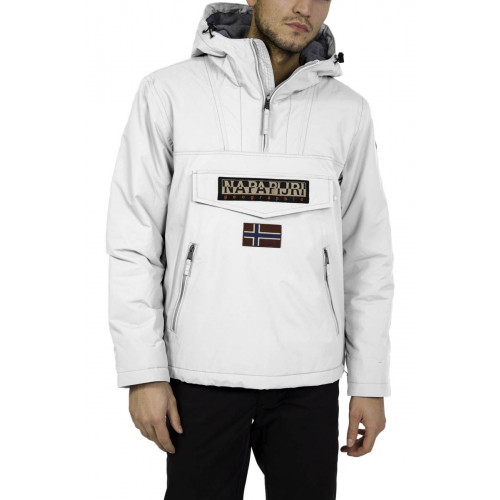 Rainforest Veste Ski Precision Napapijri White Bright Pocket OXliPkuwZT