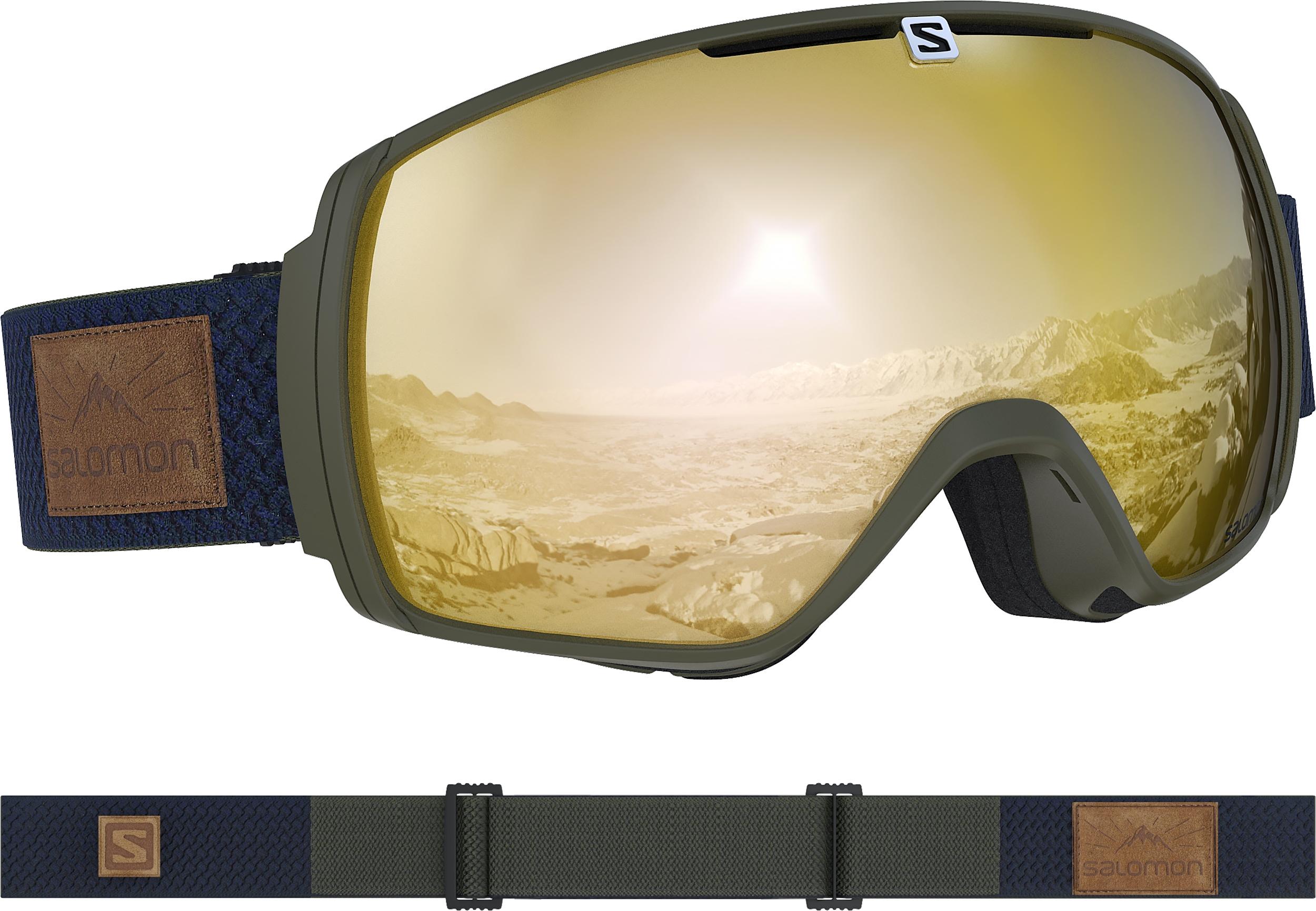 Masque De Ski Salomon Xt One Olive Night   Sol Bronze Otg - PRECISION SKI 6c15266d6c5e