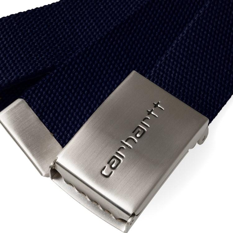 705f1163ffa4 Ceinture Carhartt Clip Belt Chrome Dark Navy - PRECISION SKI