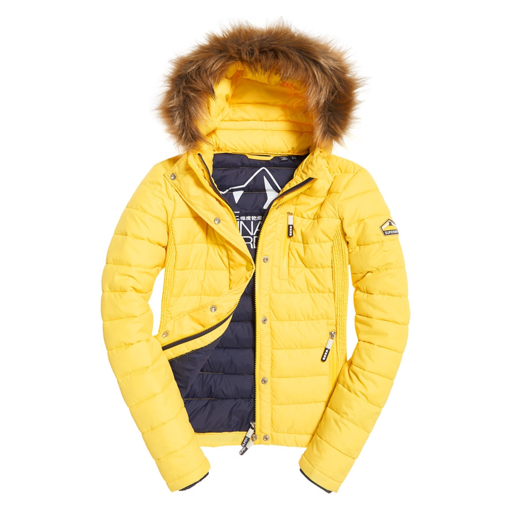 manteau superdry jaune
