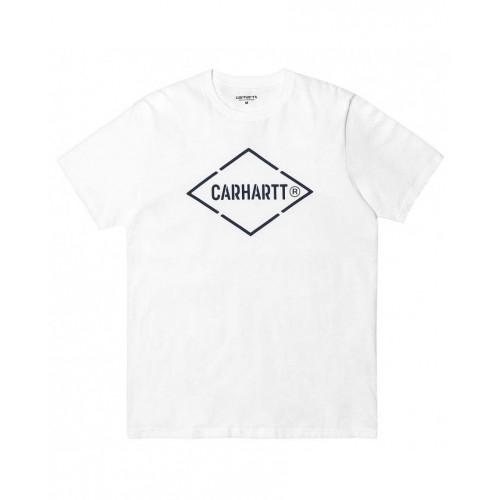 Tee-shirt Carhartt Diamond White Navy