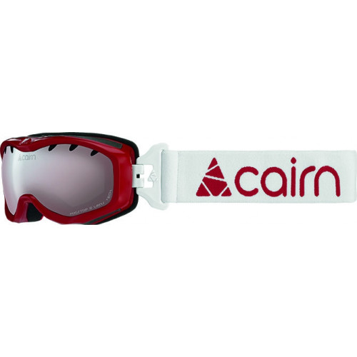 Masque De Ski Cairn Rush J SHINY RED WHITE