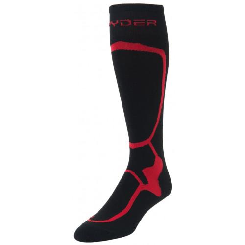 Chaussettes De Ski Spyder Pro Liner Black / Red