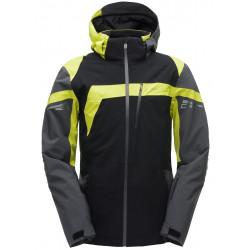 Veste de ski jaune et noir
