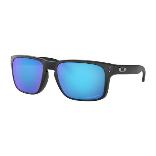 3542151da0d7ad Lunettes De Soleil Oakley Holbrook Matte Black Prizm Sapphire Polarized
