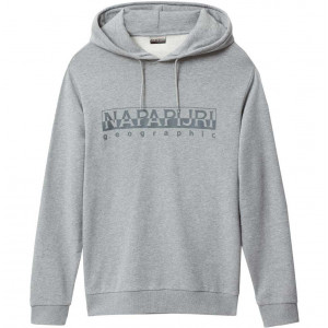 Grey À Bevora Sweat Melange Napapijri Hoody Capuche nPOX8wk0