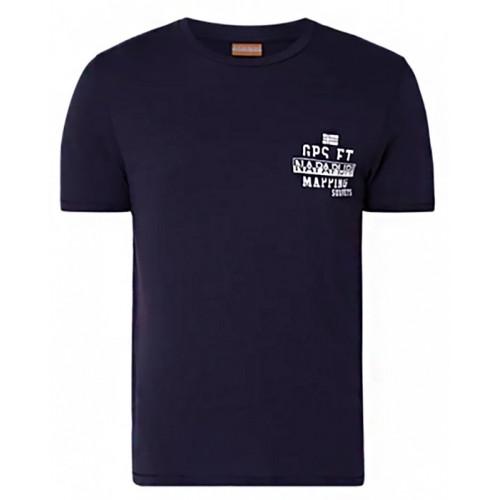 best loved b1b89 c85f1 T-shirt Napapijri Sebac Bleu Marine
