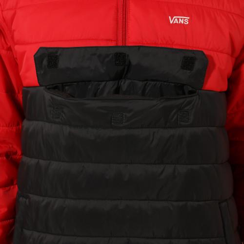 Veste Vans Carlon Anorak Puffer Racing Red Black par