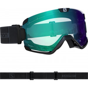 Masque De Ski Salomon X View Grey Neon Uni Sup White