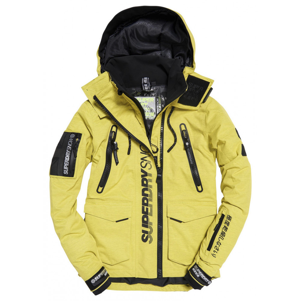Ski Jacket Superdry Ultimate Snow Rescue Yellow