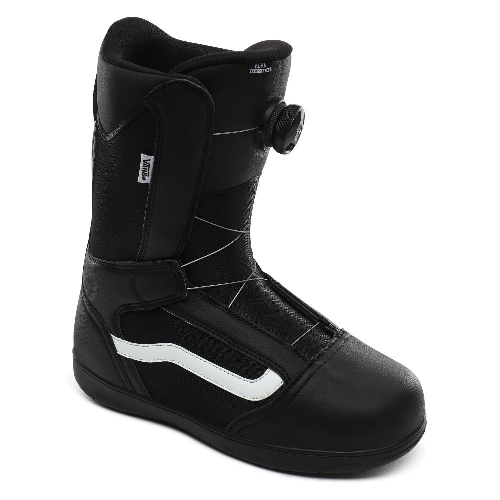 Boots De Snowboard Vans Aura Linerless Black White par Precision Ski