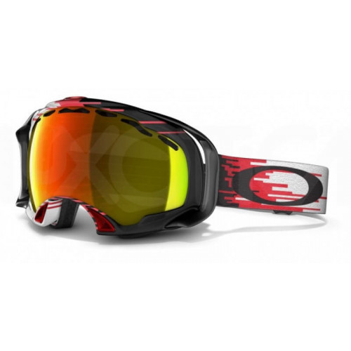 Masque De Ski Oakley Splice Hyperdrive Red Black Fire Iridium