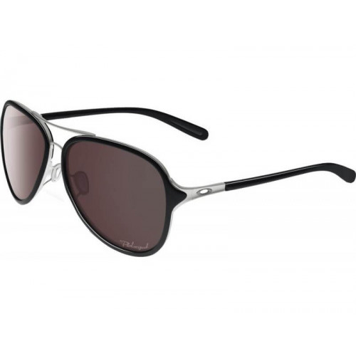 Lunettes Oakley Kickback Satin Chrome Black Iridium Polr