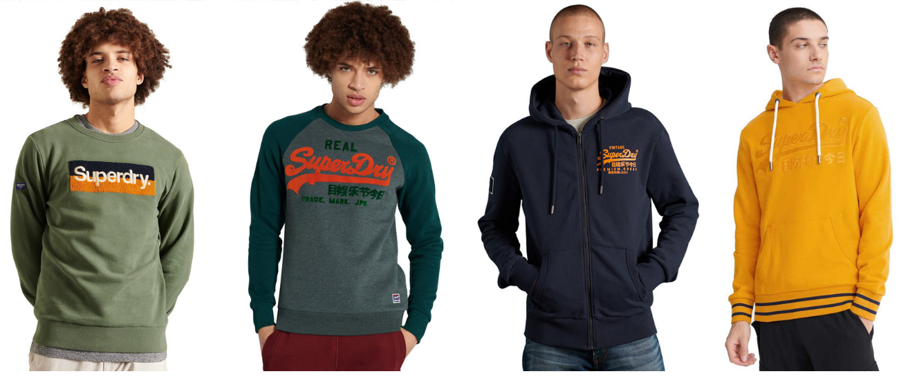 sweats pull homme SUPERDRY