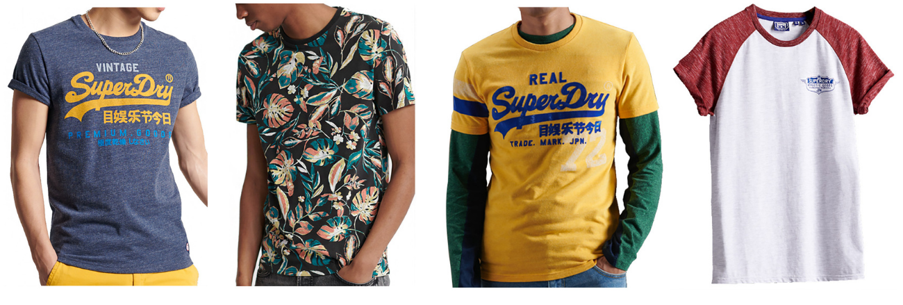 t-shirts homme SUPERDRY